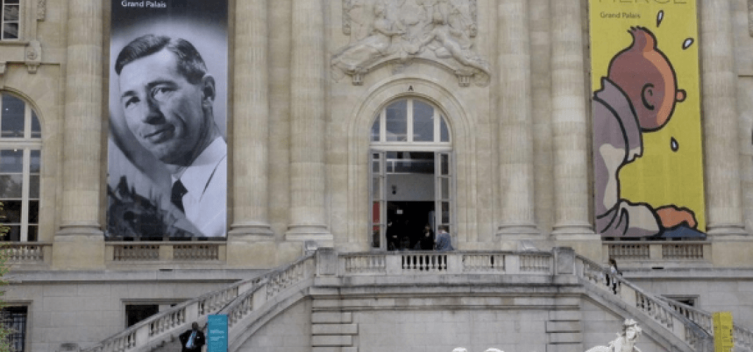 HERGE AT THE GRAND PALAIS