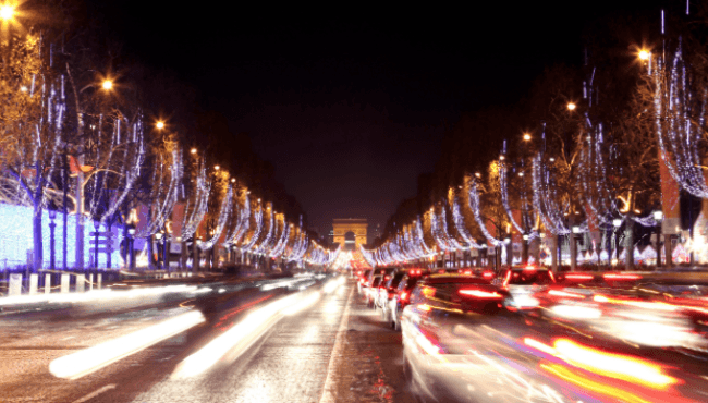 The Christmas illuminations in Paris 2018