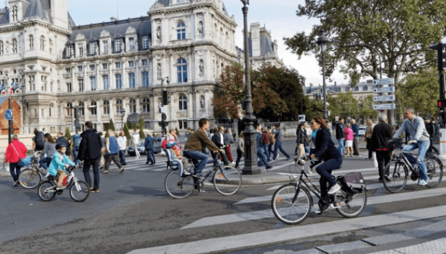 The first 4 districts of Paris pedestrian 1st Sunday of each month!