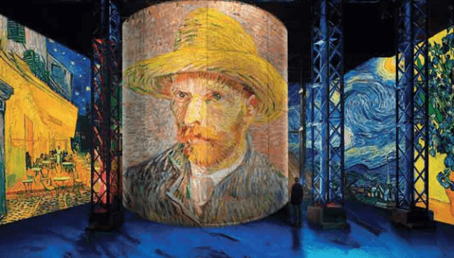 Van Gogh, the starry night: the immersive exhibition at the Atelier des Lumières