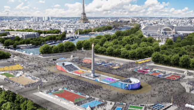Olympic Day 2019 on the Place de la Concorde in Paris