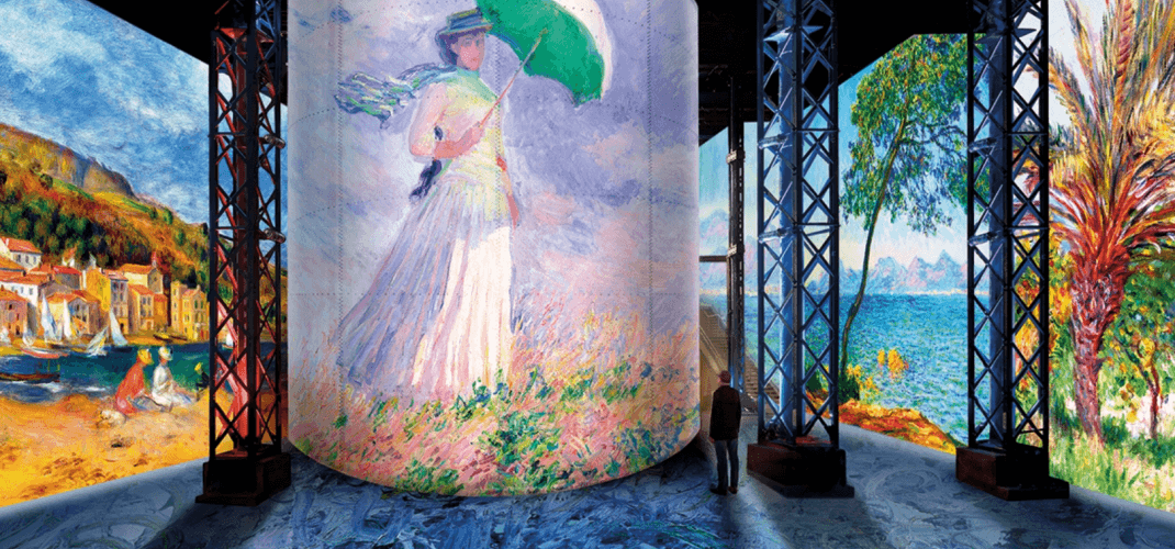 EXHIBITION MONET, RENOIR, CHAGALL IN THE MEDITERRANEAN, AT THE ATELIER DES LUMIÈRES